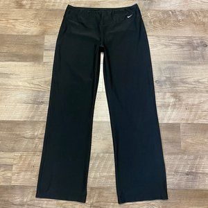 Nike Pants Womens M 8 10 Black Dri Fit Yoga Lounge